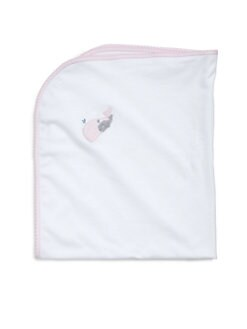 Royal Baby - Infant's Whale-Motif Receiving Blanket/Pink