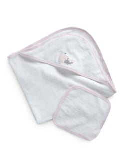 Royal Baby - Infant's Whale-Motif Towel Set/Pink