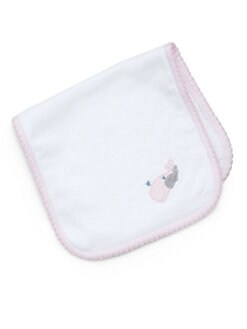 Royal Baby - Infant's Whale-Motif Burp Pad/Pink