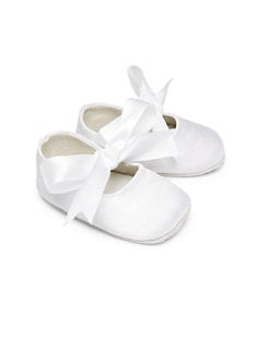 Ralph Lauren - Infant's Pink Satin Ballerina Flats