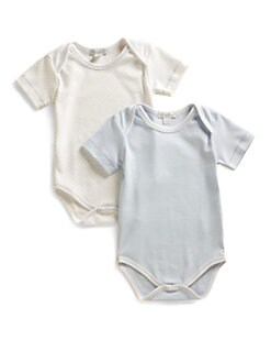 Kissy Kissy - Infant's Dot & Solid Bodysuit Two-Pack/Blue