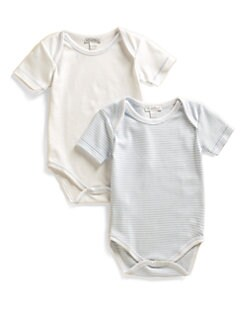 Kissy Kissy - Infant's Stripe & Solid Bodysuit Two-Pack/Blue