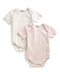 Kissy Kissy - Infant's Stripe & Solid Bodysuit Two-Pack/Pink