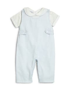 Kissy Kissy - Infant's Dominic Two-Piece Overalls & Pintucked Shirt Set