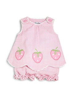Hartstrings - Infant's Two-Piece Strawberry Top & Bloomers Set