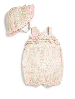 Hartstrings - Infant's Two-Piece Bubble Romper & Hat Set