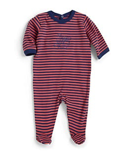 Petit Bateau - Infant's Striped Footie