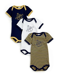 Petit Bateau - Infant's Three-Piece Bodysuit Set