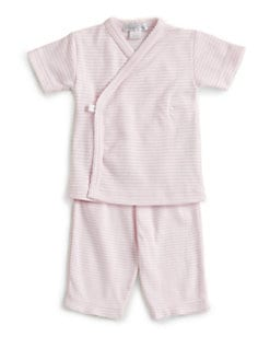 Kissy Kissy - Infant's Striped Kimono Top/Pink