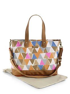 Storksak - Triangle-Print Diaper bag