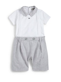 Armani Junior - Infant's Plaid Shortall