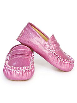 Trumpette - Infant's Glitter Moccasins