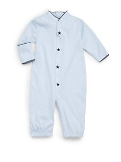Royal Baby - Infant's Star-Motif Convertible Gown/Blue