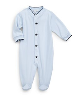 Royal Baby - Infant's Star-Motif Footie/Blue