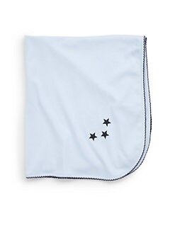 Royal Baby - Infant's Star-Motif Receiving Blanket/Blue