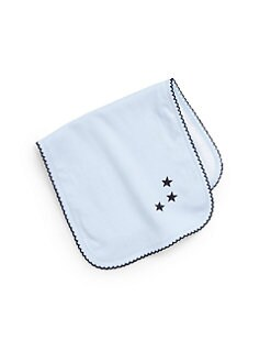 Royal Baby - Infant's Star-Motif Burp Pad/Blue