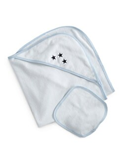 Royal Baby - Infant's Star-Motif Towel Set/Blue