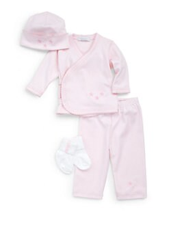 Royal Baby - Infant's Star-Motif 4-Piece Set/Pink