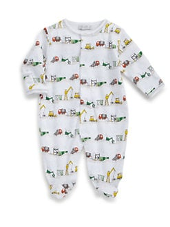 Kissy Kissy - Infant's Earth Movers Pima Cotton Footie