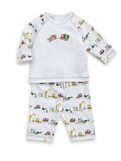 Kissy Kissy - Infant's Earth Movers Two-Piece Raglan Tee & Pants Set