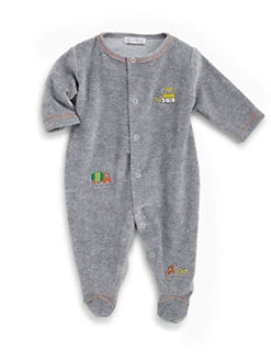 Kissy Kissy - Infant's Earth Movers Velour Footie