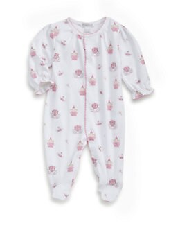 Kissy Kissy - Infant's Enchanted Princess Pima Cotton Footie