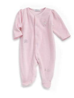 Kissy Kissy - Infant's Enchanted Princess Velour Footie