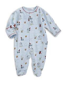 Kissy Kissy - Infant's Chasing Dragons Pima Cotton Footie