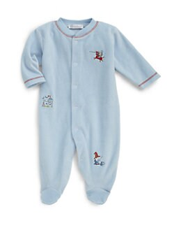 Kissy Kissy - Infant's Velour Chasing Dragons Footie