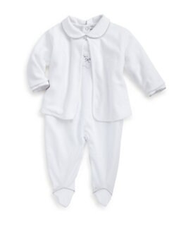 Kissy Kissy - Infant's Two-Piece Teddy Bear Velour Footie & Jacket Set