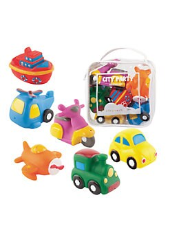 Elegant Baby - Six-Piece City Party Squirties Bath Toys