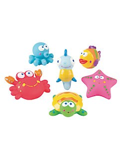 Elegant Baby - Six-Piece Lagoon Party Squirties Bath Toys