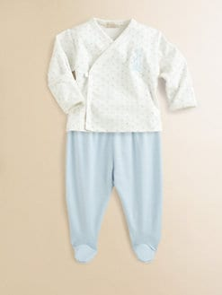 Kissy Kissy - Infant's Ecru Polka Dot Top & Pants Set