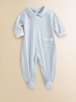 Kissy Kissy - Infant's Striped Ruffled Footie