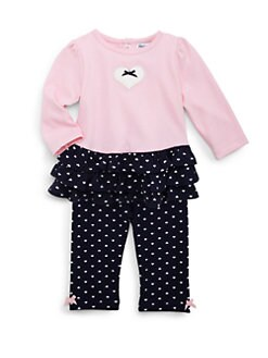 Hartstrings - Infant's Two-Piece Ruffled Heart Top & Pants Set