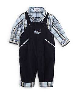 Hartstrings - Infant's Twill Plaid Overalls