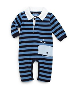 Hartstrings - Infant's Striped Whale Romper