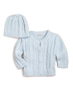 Kissy Kissy - Infant's Cable Cardigan & Hat Set