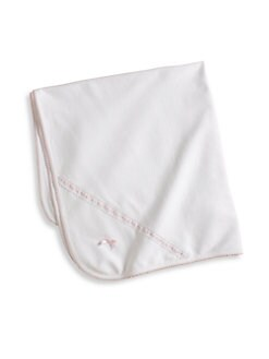 Royal Baby - Infant's Pima Cotton Receiving Blanket/Pink