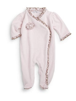 Kissy Kissy - Infant's Velour Cheetah Ruffle Footie