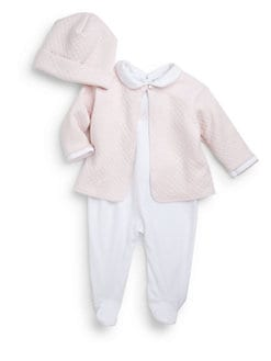 Kissy Kissy - Infant's Three-Piece Take Me Home Footie, Hat & Jacket Set