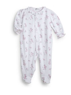 Kissy Kissy - Infant's Poodle Couture Print Footie