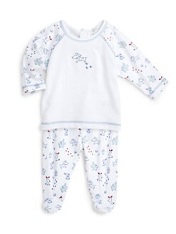 Kissy Kissy - Infant's Two-Piece Yuppy Puppy Raglan Top & Footed Pants Set