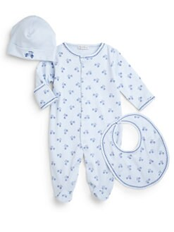 Kissy Kissy - Infant's Three-Piece Antique Roadster Footie, Hat & Bib Set