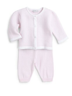 Kissy Kissy - Infant's Two-Piece Harmony Knit Cardigan & Pants Set