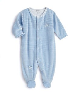 Kissy Kissy - Infant's Hey Diddle Diddle Striped Velour Footie