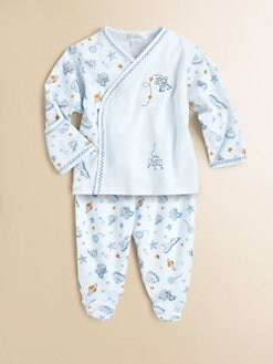 Kissy Kissy - Layette's Two-Piece Space Cowboys Shirt & Footed Pants Set