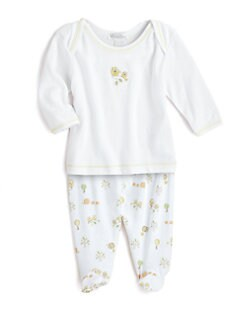 Kissy Kissy - Infant's Two-Piece Hoot Hoot Top & Footed Pants Set