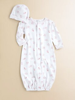 Kissy Kissy - Infant's Hey Diddle Diddle Convertible Gown & Hat Set