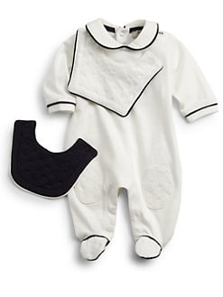 Armani Junior - Infant's Three-Piece Footie & Bibs Set